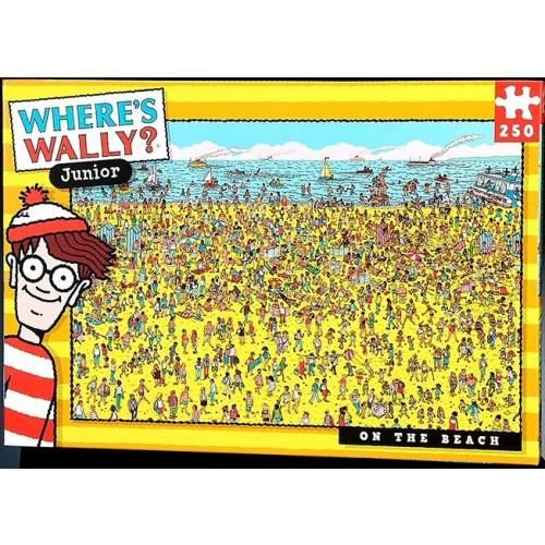 Where's Wally Junior at the Beach 250pcs Jigsaw
